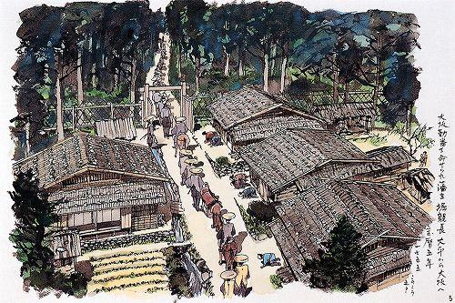 (5)大坂勤番を命ぜられ藩主堀親長大平から大坂へ